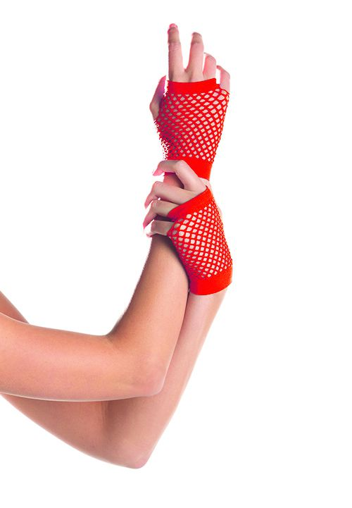 Короткие перчатки Fishnet Gloves