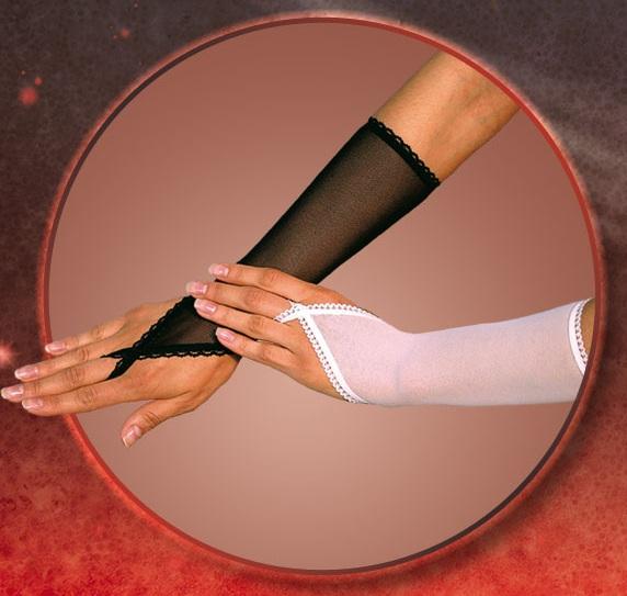 Прозрачные перчатки на пальчик