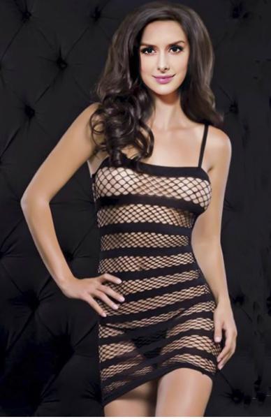 Платье сетка в полоску