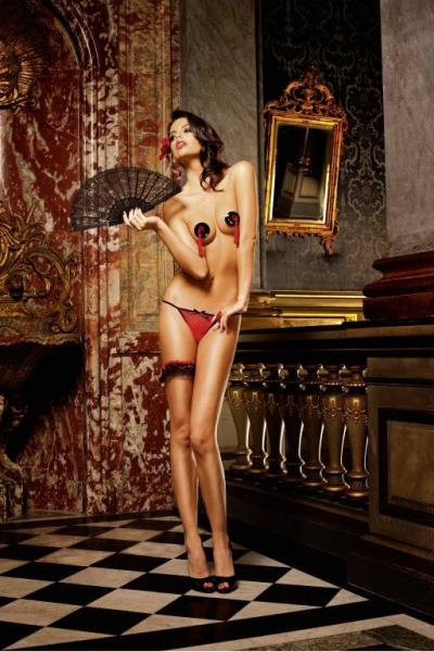 Spanish Трусики женские L, красный/черный